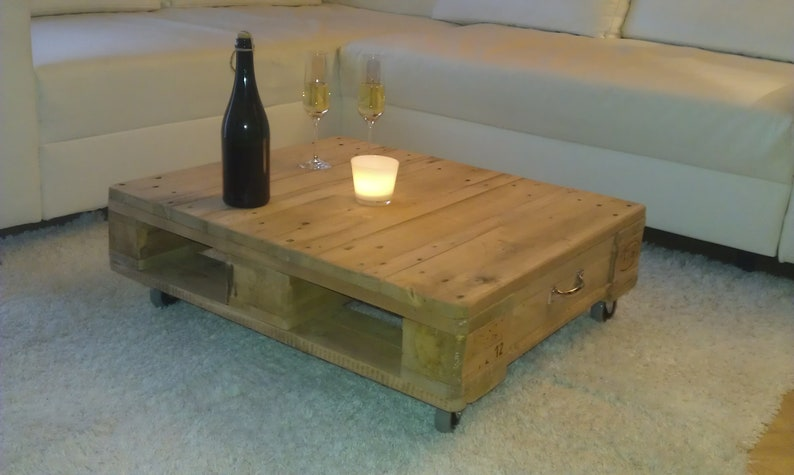 Coffee table pallet table upcycling Europalette image 0