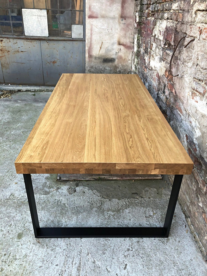Wooden Table Serra Oak Table Dining Table Oak Table Oak Dining Table Living Room Industrial Dining Table Loft Table Wood Table