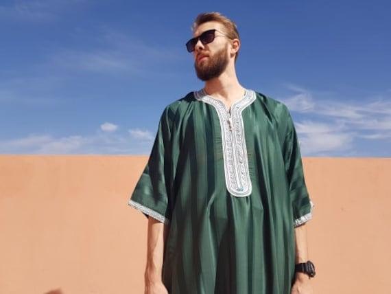 Moroccan Kaftan for men djellaba for men moroccan kaftan   Etsy