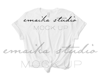 Bella Canvas 3001 White Tshirt Mock Up Bella Canvas Mockup