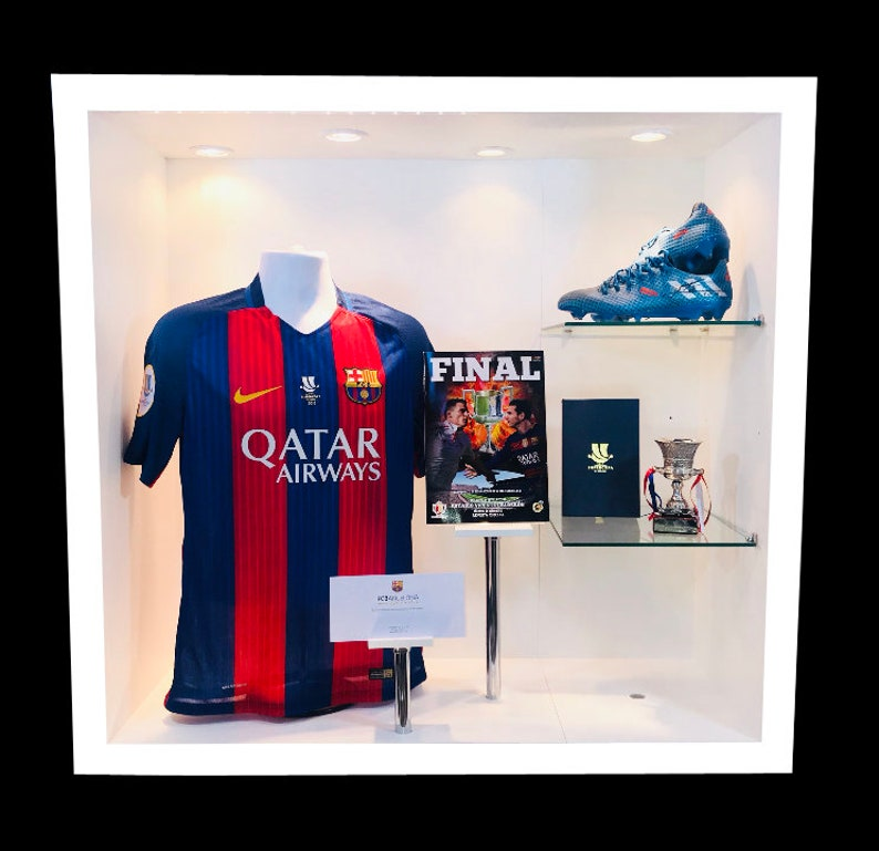 hot sale online ccb6f 1026d Lionel Messi Match Worn Supercopa Shirt & Worn Football Boots and Supercopa  Winners Trophy