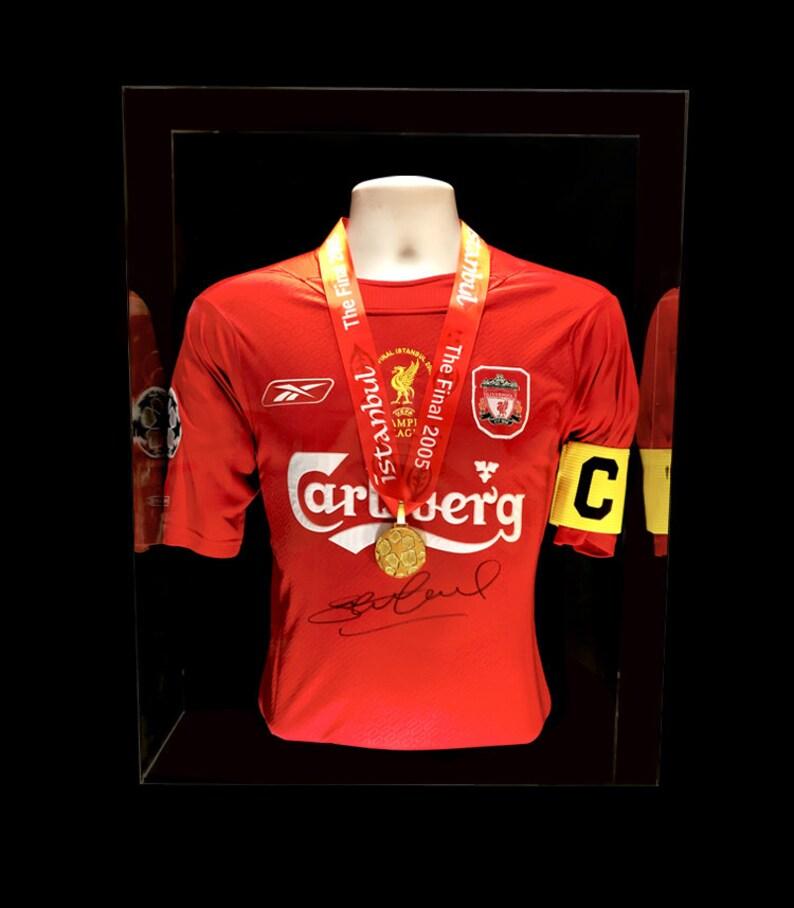 74d37c67907 Steven Gerrard Hand Signed Champions League Final Shirt