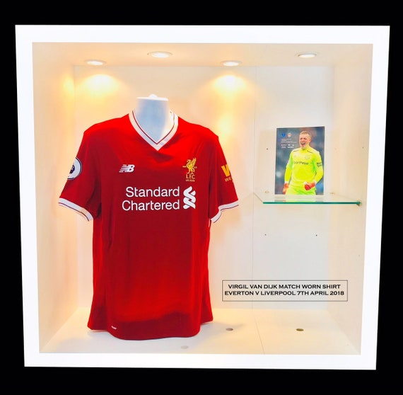 size 40 b5bf1 f9e77 Van Dijk Match Worn Liverpool Shirt v Everton
