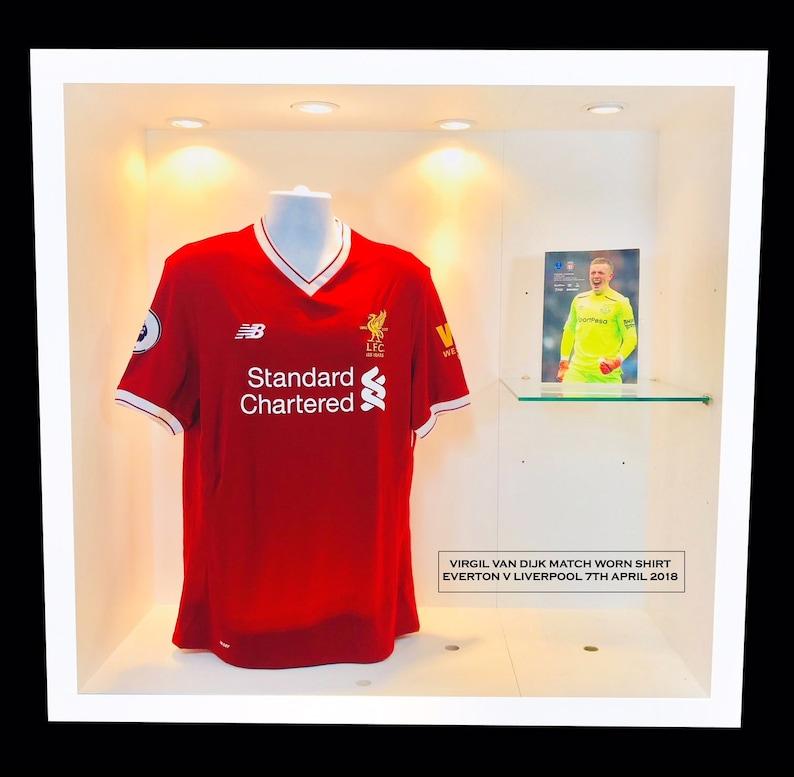 size 40 7a5f0 e6774 Van Dijk Match Worn Liverpool Shirt v Everton
