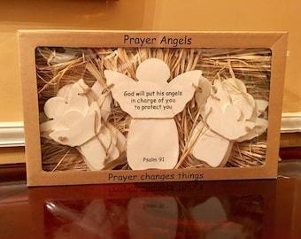 Wooden Prayer Angels