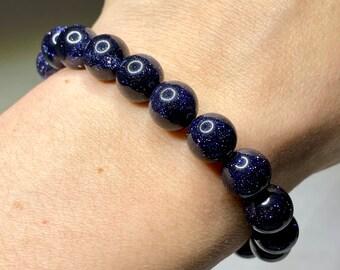 Goldstone Natural Gemstone Chip Bracelet Healing Chakra  Handmade ON SALE