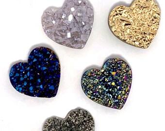 3.2\u201d Druzy Agate Heart