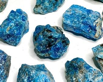 Blue Apatite Stones Rough