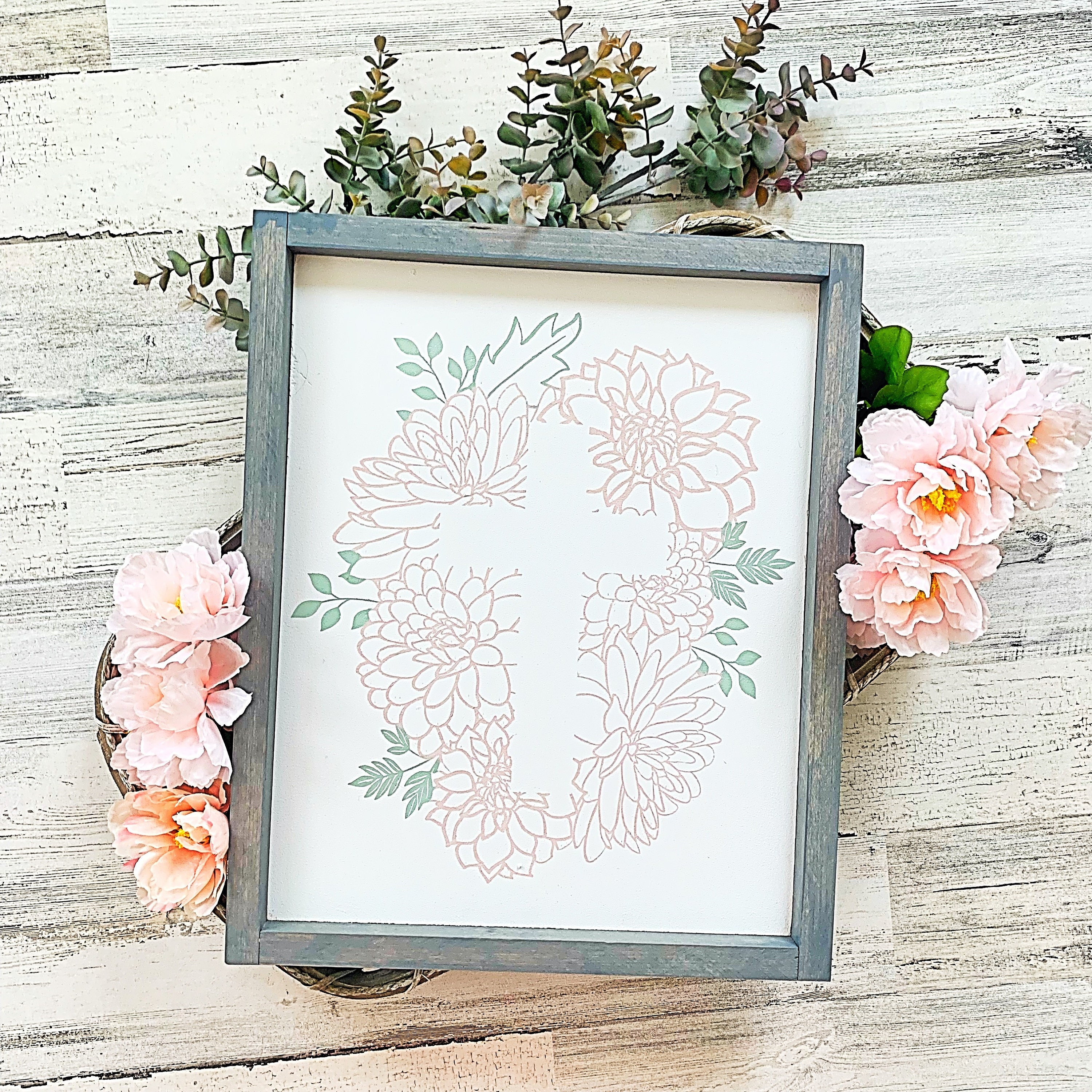 Cross Sign Easter Signs Spring Decor Farmhouse Easter Cross Spring Signs Biblical Sign Scripture Sign Jesus Sign Floral Cross