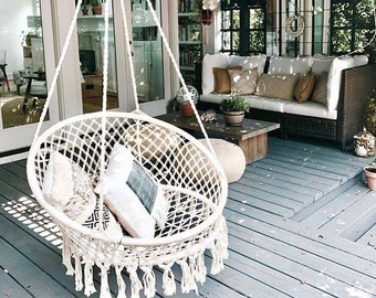 Macrame Hanging Chair Etsy