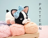 Amigurumi crochet pattern (English) - Belle the boston terrier puppy dog