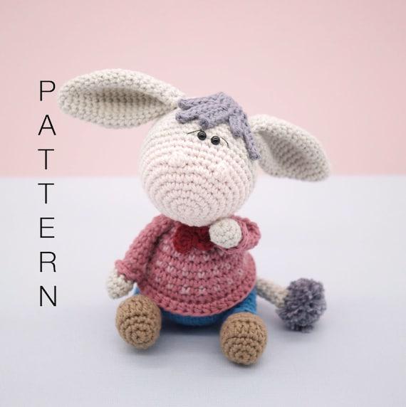 Pablo, the Rock-Donkey. Crochet Instructions English | 572x570
