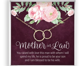 Mother In Law Necklace Gift Future Mom Poem Message Card Jewelry Wedding 14kt Gold Filled Rose Fill Sterling Silver
