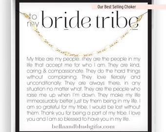 Bachelorette Necklaces Bridesmaid Proposal Bridesmaid Choker Necklace Bride Tribe Gift 14kt Gold Filled Rose Silver Bridesmaid Bracelet