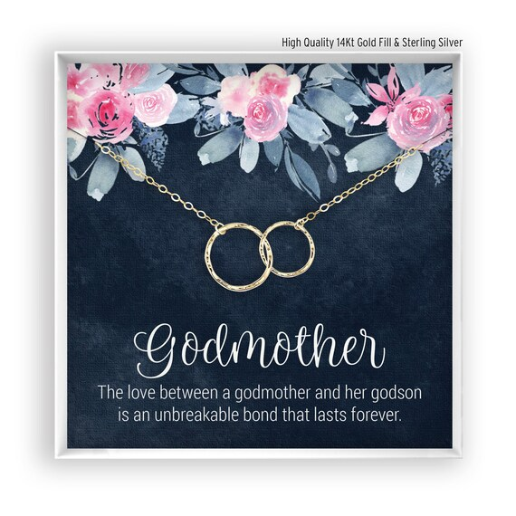 007a0c4dcfea Godmother Necklace Godmother Gift Baptism Gift Christening