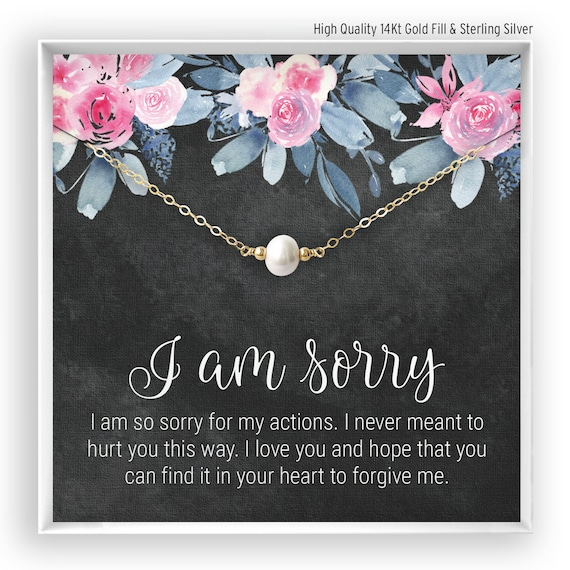 Sorry Gift Apology Gift for Her Forgive Necklace Girlfriend Please Forgive Me Gift for Wife Friend Sorry Card Forgiveness