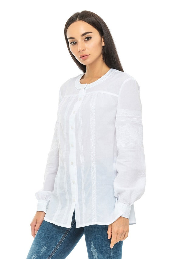 Ukrainian vyshyvanka blouse ukrainian embroidered blouse vyshyvanka bohemian ethnic shirt boho chic peasant Gift for Her Gift for Easter
