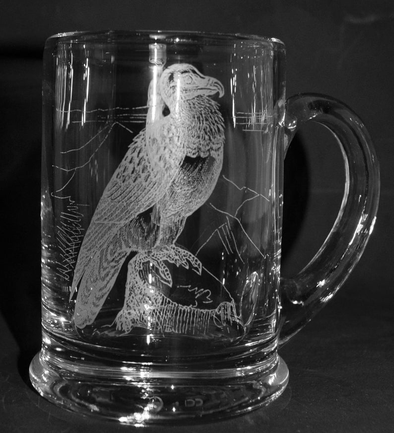 HIGHLAND COW FRIEZE Boxed PINT CRYSTAL GLASS Tankard
