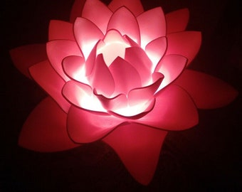Lotus Flower Lamp Etsy