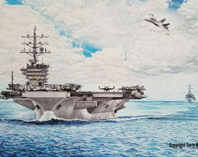 USS Eisenhower, CVN-69  US Aircraft Carrier