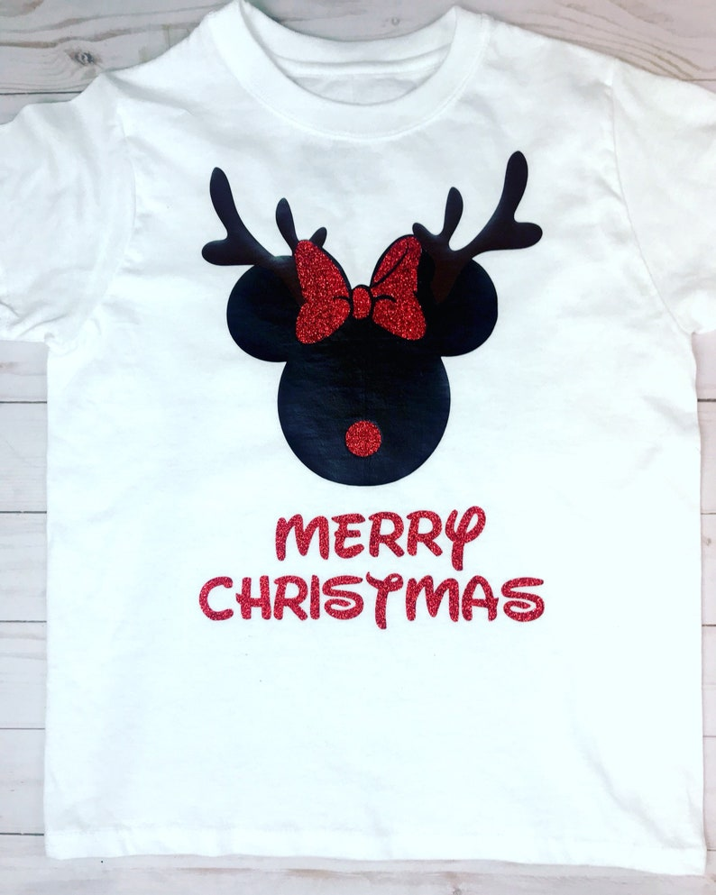 13033ca994 Christmas mickey and Minnie Mouse T-shirt, christmas disney shirt, Mickey  mouse Christmas shirt, Minnie mouse christmas shirt, kids shirt