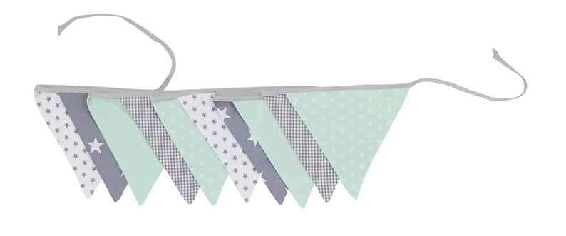 Fabric Bunting Banner Triangle Banner Playroom Decor Mint Etsy