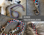 "Paracord leash / training line ""BonBon"", dog leash, city dog, unique, handknotted"