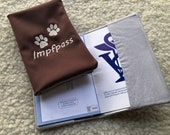 """Vaccination passport cover / cover """"paws"""", EU pet passport, dog, vaccination certificate, embroidered, unique"""