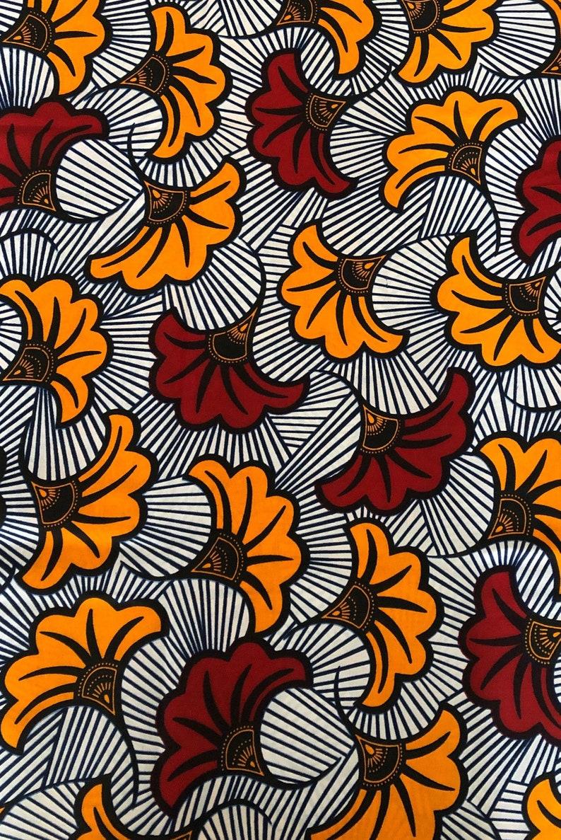 Tissu wax africain hitarget motif Fleurs de mariage wax fabric image 0