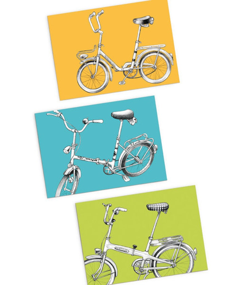 3-set postcards: Folding bike image 0