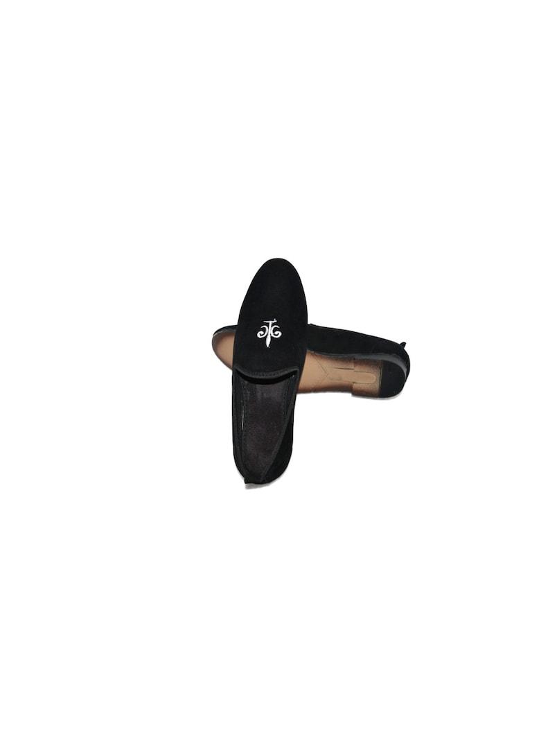 Velvet Slip On Black Color Casual Loafer Stylish Moccasins Dress Shoes For Men /& Boys Wedding Royal Black Velvet Embroidered Slip On 5002
