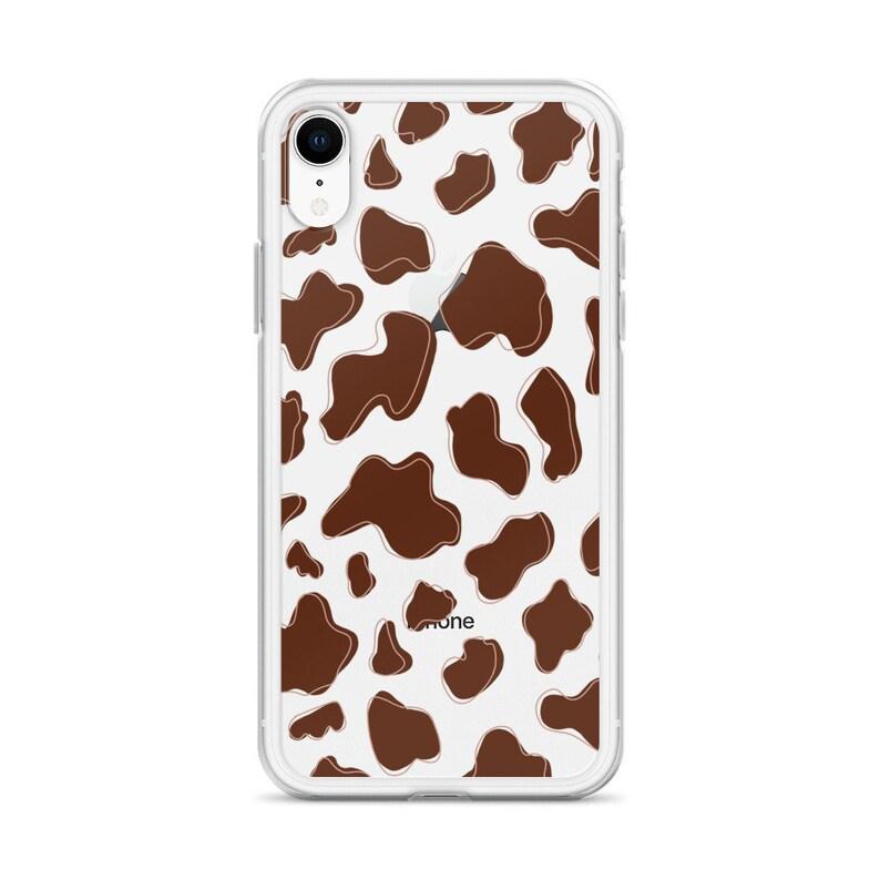 Cow Print Clear iPhone Case
