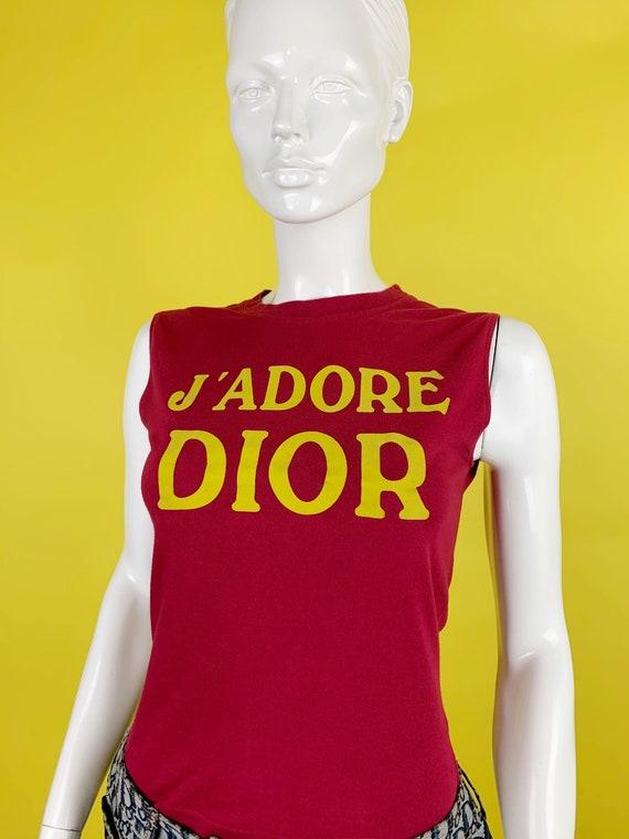 "Dior Fall 2001 ""J'adore Dior"" Tank Top - image 1"