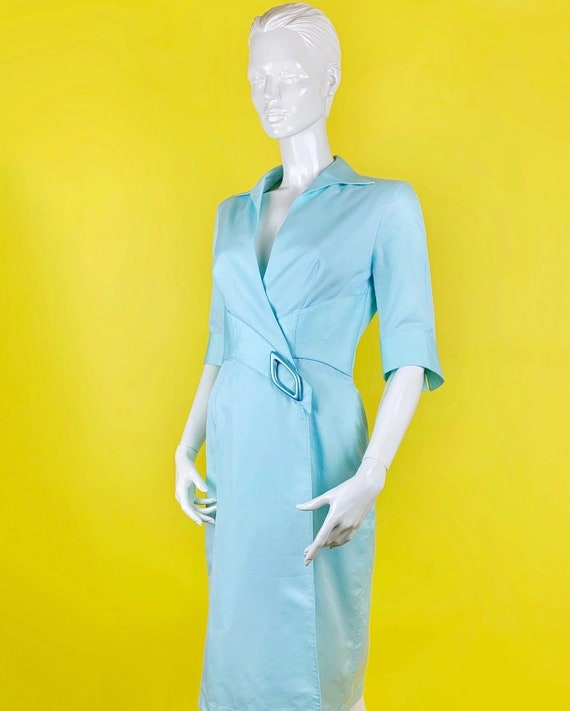 Thierry Mugler Couture 90s Baby Blue Dress