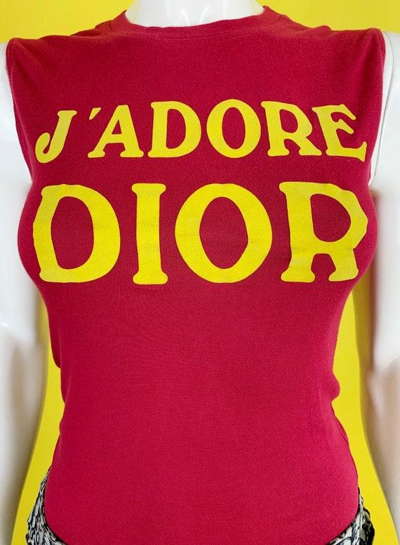 "Dior Fall 2001 ""J'adore Dior"" Tank Top - image 3"