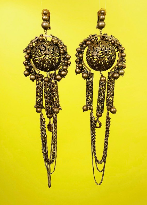 Vintage Massive Dior Chandelier Earrings
