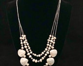 Handmade necklace shells and pearl