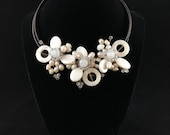 Handmade necklace pearl and shell from natural