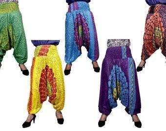 6029f206ba8 5 Pic Lot Of Handmade Block Print Pants Indian Women s Yoga Trousers Afghni Trouser  Summer Pants Hippie Rayon Pants Gypsy Pants