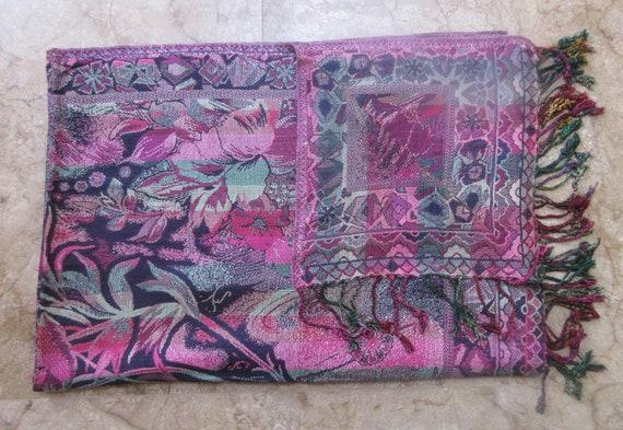 606b6b9ef267 Design Floral indien étole Cachemire à la main châle cou chaud Wrap Cachemire  Pashmina Châle bordure Design nouvelle laine écharpe de mode