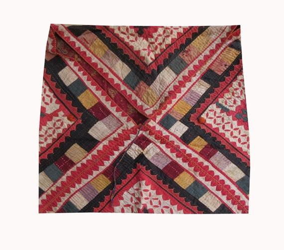 5d539c87d578 Vintage Hand Embroidered Banjara Dowry Bag Indian handmade Kutchi Work Bag  Hand Stitch Kantha Bag Tribal