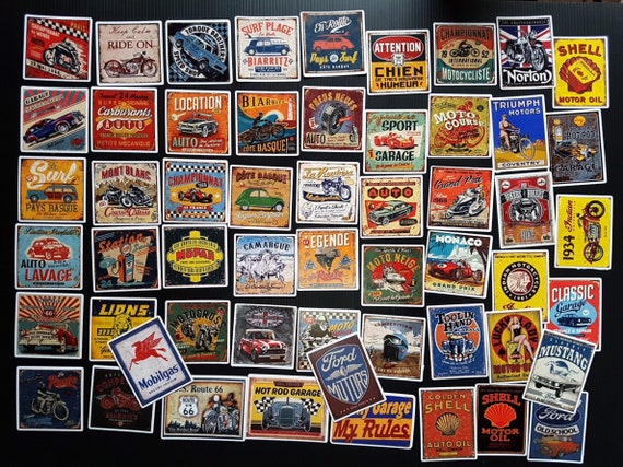 decal lot of 5 Vintage Gulf Oil