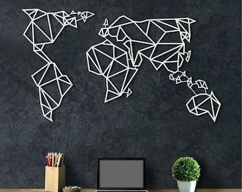 Metal world map etsy popular items for metal world map gumiabroncs Image collections