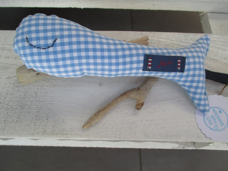 Baby rattle Lasse blue white carered with image 0