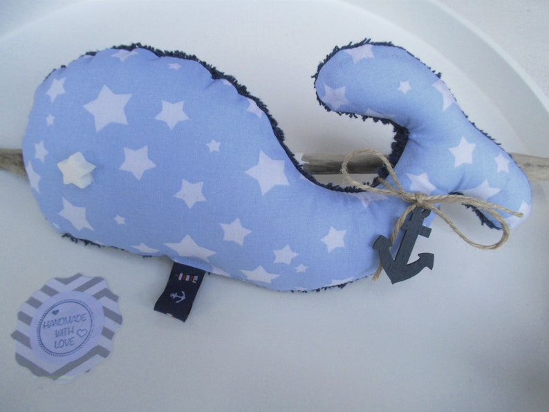 Cuddly /Deco whale Dreamerle length 22 cm light image 0