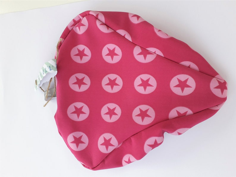 Saddle cover star Love Pink image 0