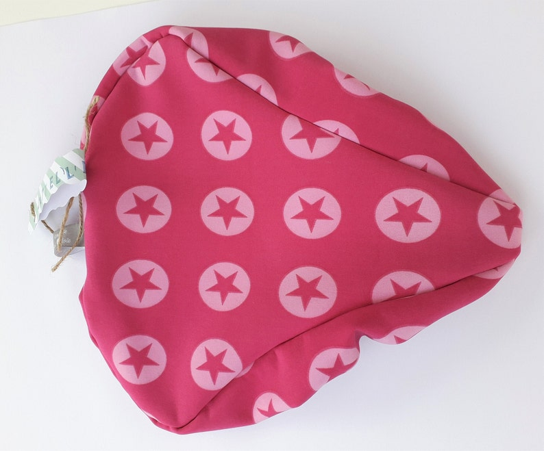 Saddle cover Softshell Star love pink with stars custom made image 0