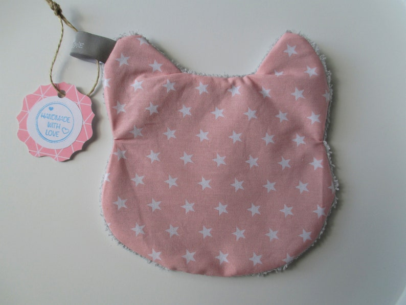 Crackling cat pink pink with white small or large Große weiße Sterne