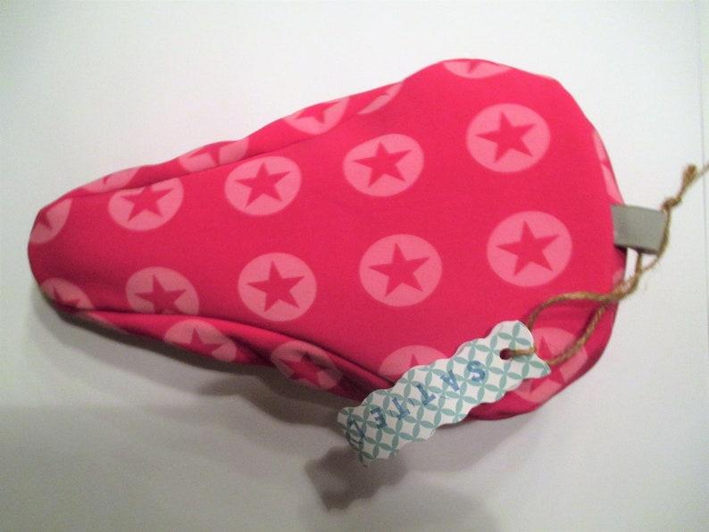 Saddle protection sleeve Softshell KIDS star love pink image 0