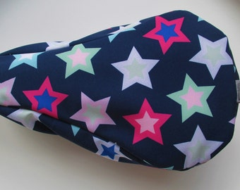 Saddle protection Softshell Kids dark blue with colorful stars, PLEASE NOTE!